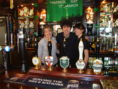 Bartender with girls