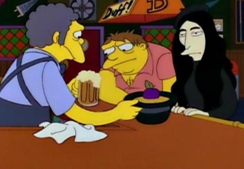 Simpsons single plum