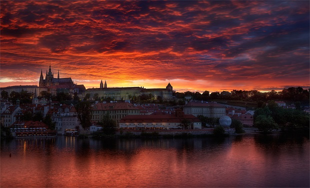 sunset-over-prague
