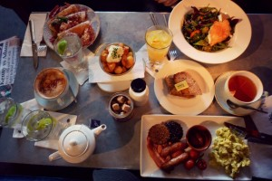 A selection of Irish brunch favorites in Dublin city