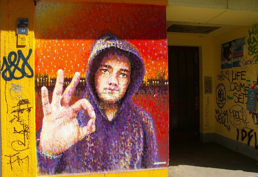Artist Jimmy C corner Wrangelstrasse Falckensteinstrasse