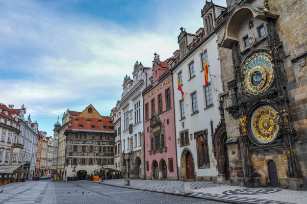 Astronomical Clock shown the right