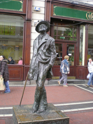 James Joyce statue in Dublin city