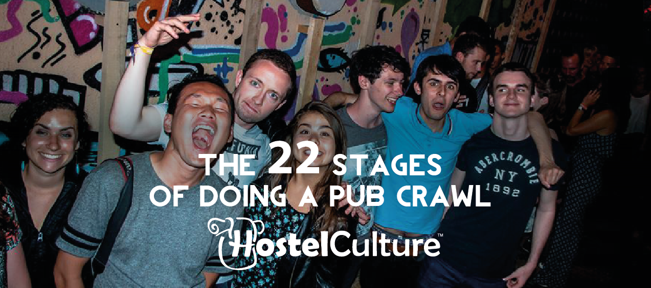 The 22 stages of doing a Pub Crawl