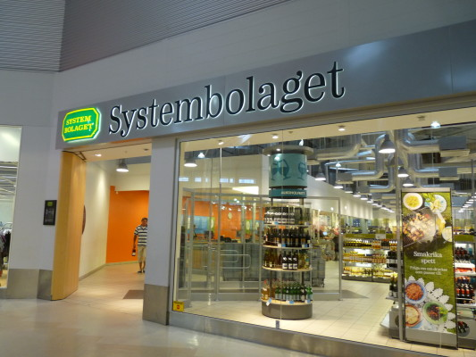 Systembolaget exterior in Sweden