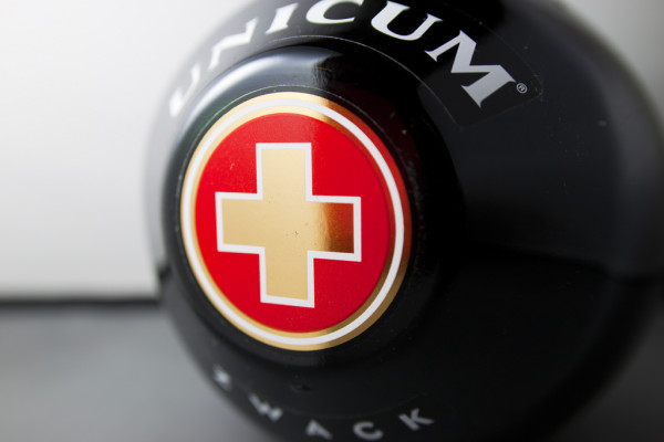 Unicum rounded bottle