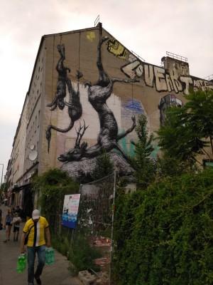 Urban street art mural in Berlin
