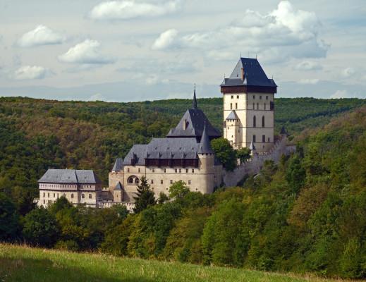 Karlštejn Castle close to Prague, seen on a day trip