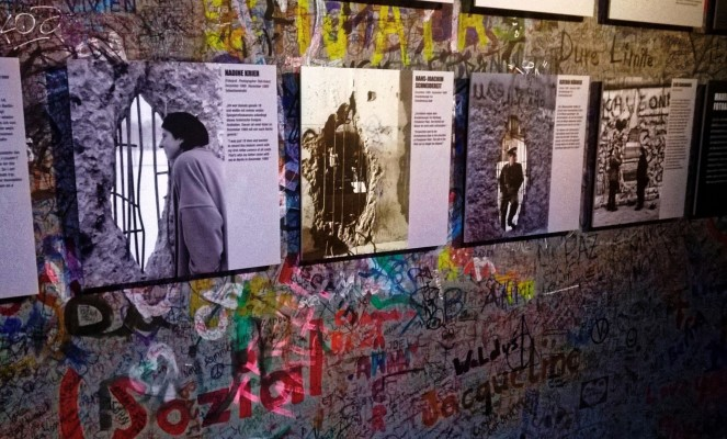 The exhibition at the Berlin Wall memorial, the stories of victims and survivors of cold war Berlin