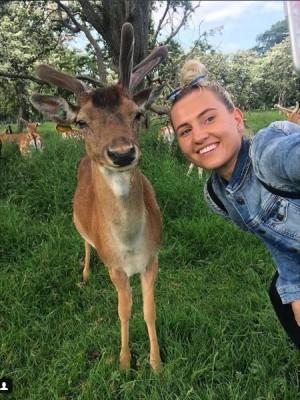 selfie with a wild deer in Phoenix park