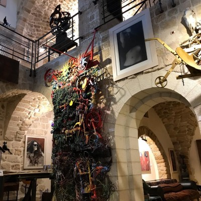 art installations in an art gallery and museum in Tel Aviv