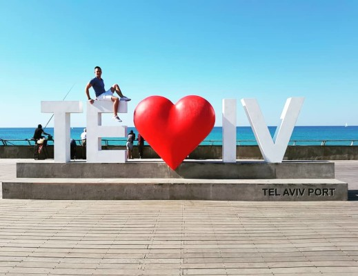 The Teloveiv sign in Tel Aviv