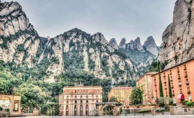 Montserrat mountain range near Barcelona