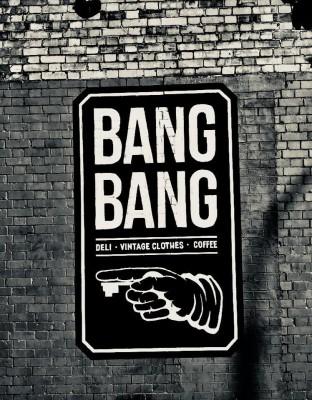 Sign for Bang Bang cafe in Dublin