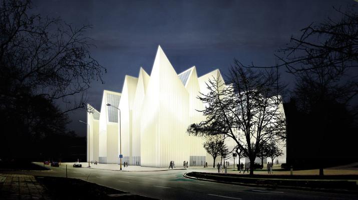 Szczecin philharmonic concert hall in Szczecin, Poland, a couple of hours from Berlin, Germany