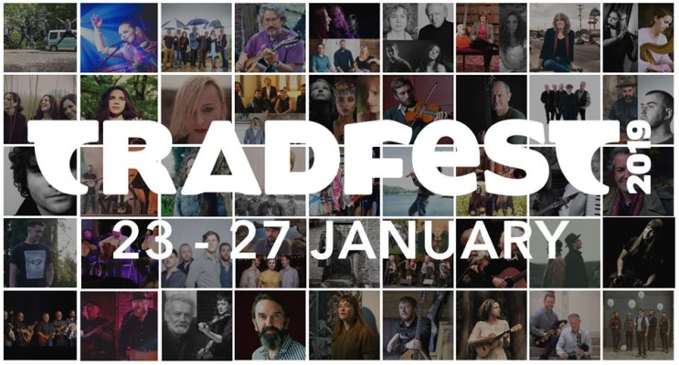 collage of featured artists of Tradfest traditional Irish music festival in Dublin 2019