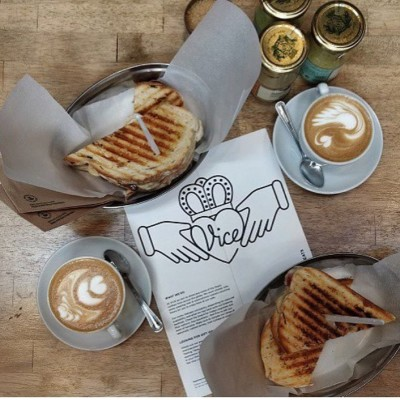Coffees and toasted sandwhices from Vice Coffee Inc in Dublin, Ireland