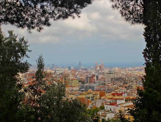 Vistas de Barcelona desde el Turó del Putxet
