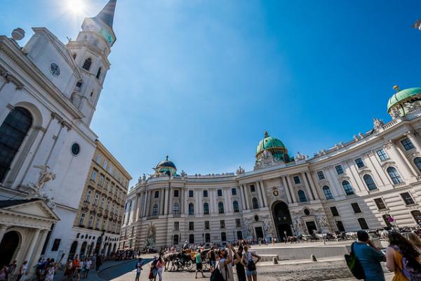 Michaelerplatz in Vienna, Austria