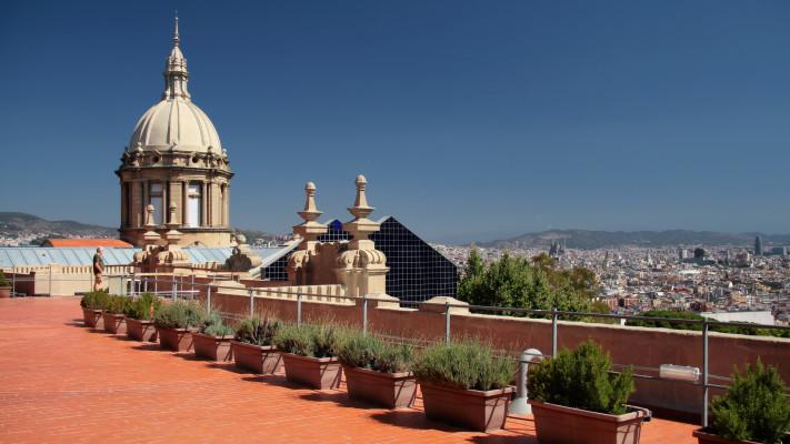 Azotea del Museo Nacional de Arte de Cataluña