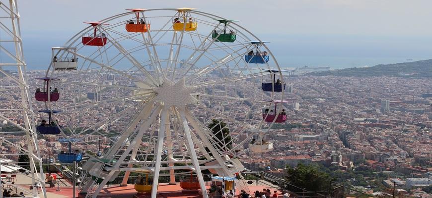 vistas de barcelona desde tibidabo