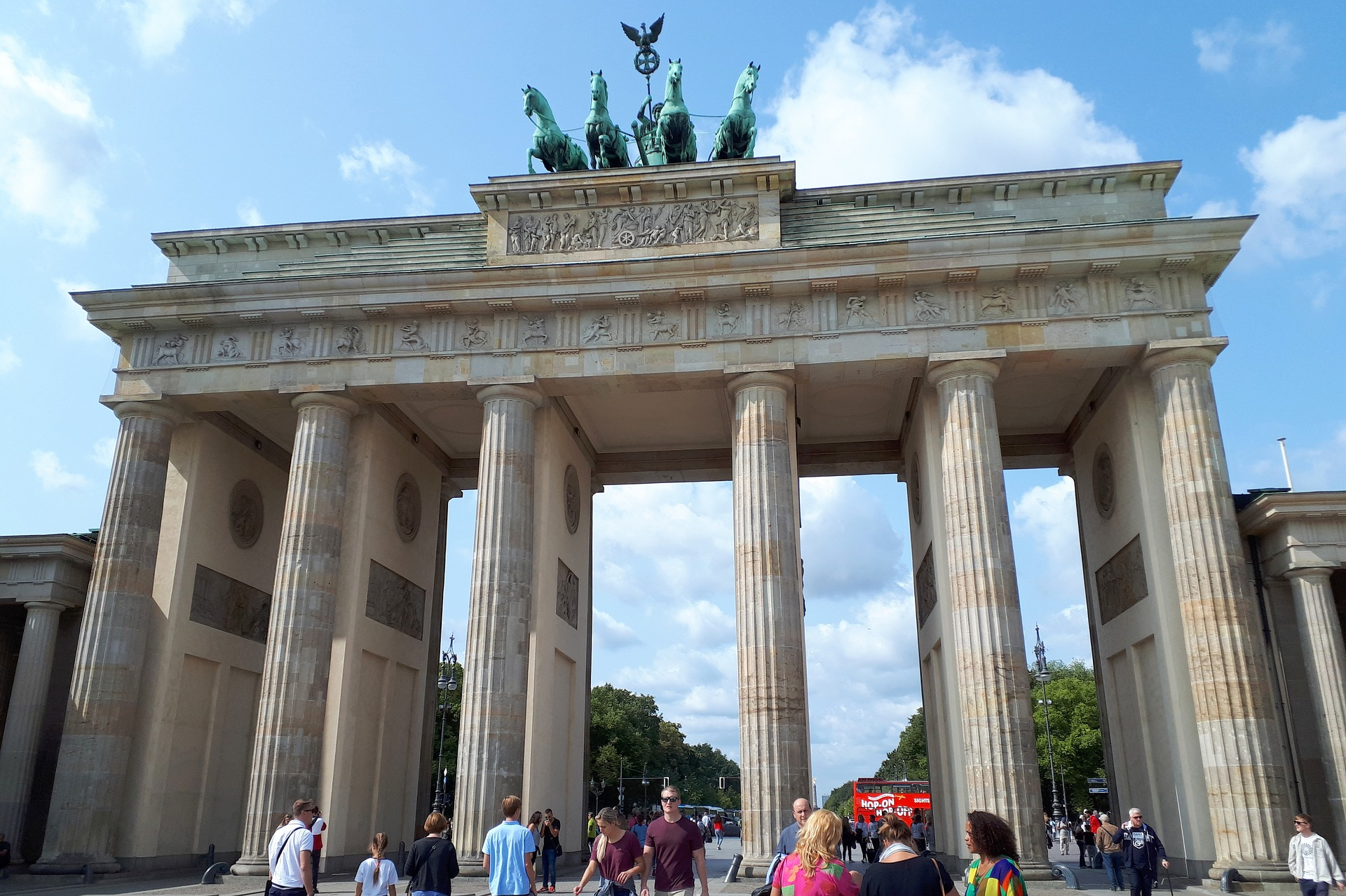 First time to Berlin visitors at the Brandenburg Gate