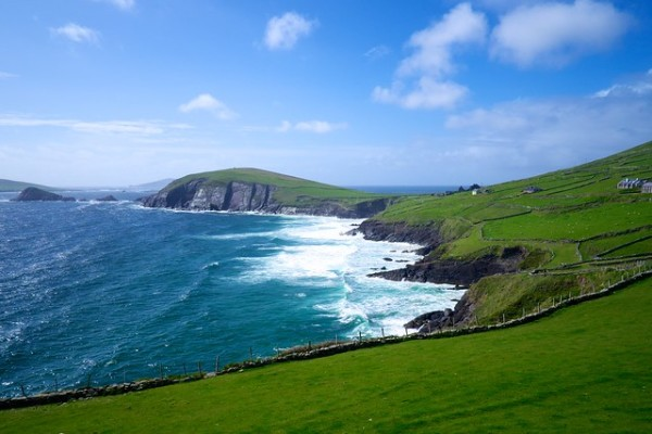 Dingle Pennisula on a calm, bright day in Summer