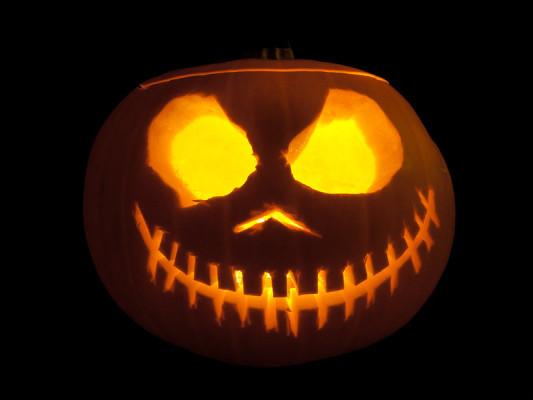 a halloween pumpkin jack o lantern in ireland
