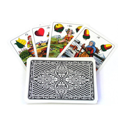 A deck of traditional Czech playing cards called Sedmové Karty
