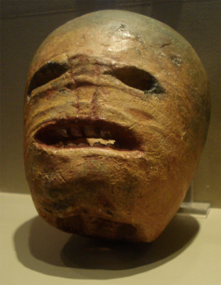 A traditional Turnip Jack O Lantern as seen at Halloween in Dublin and Ireland