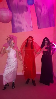 the three fates as a Halloween costume idea