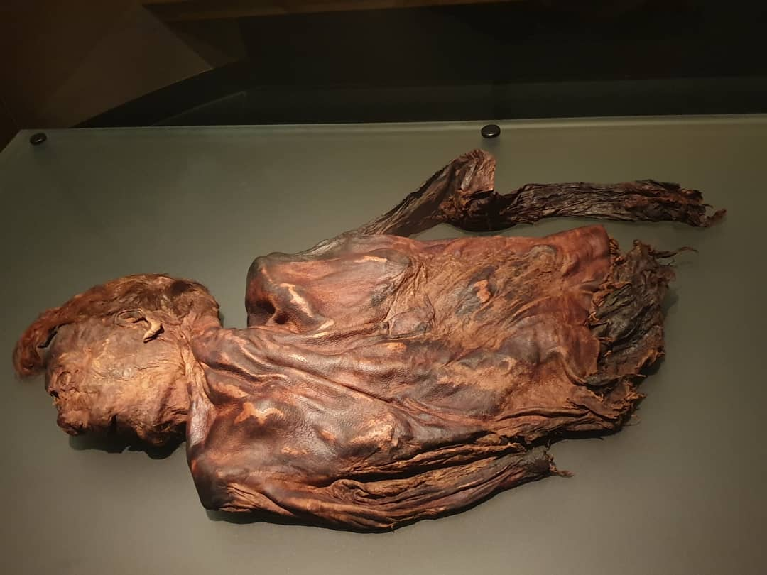 One of the bog bodies from the national History Museum in Dublin