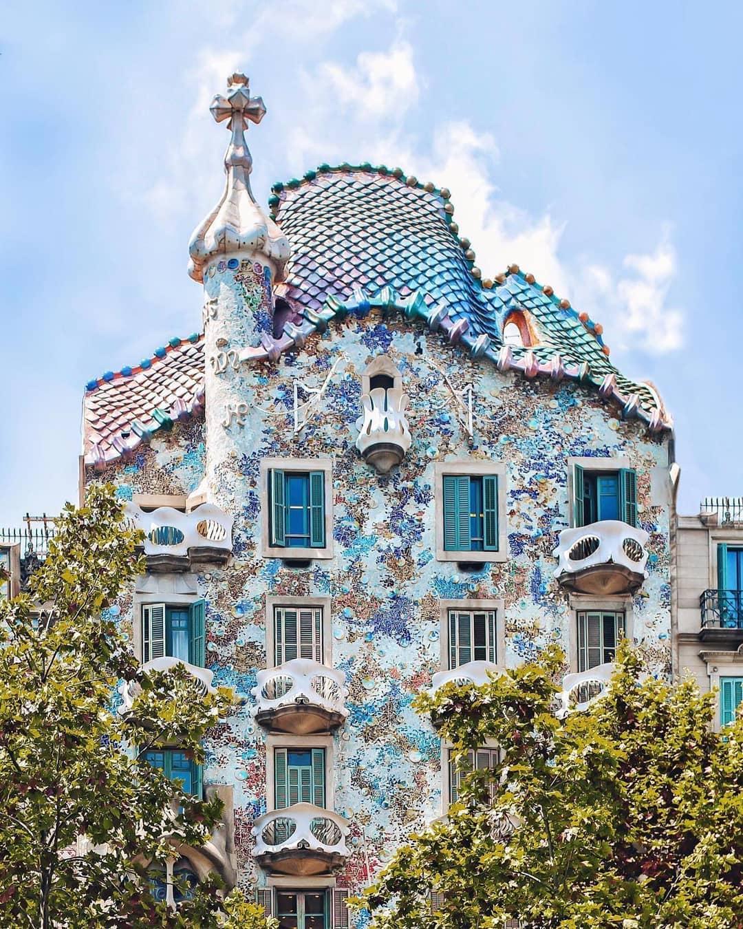 Exterior of casa batllo Barcelona
