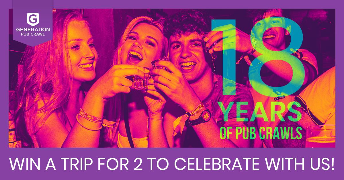 18 years of Pub Crawling - the oldest pub crawl in Europe - Generation Pub Crawl