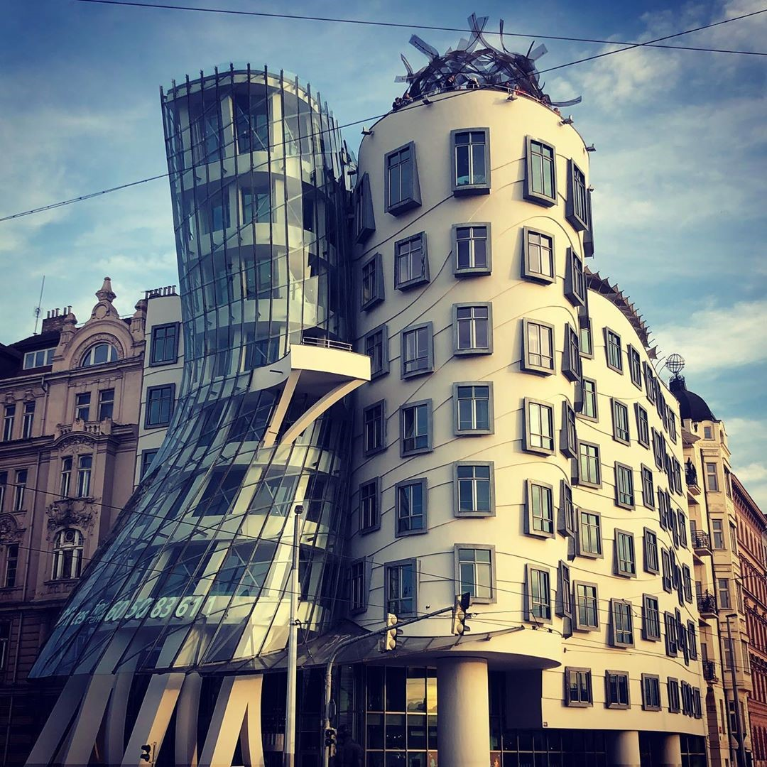 Dancing House in Prague at daytime, one of the best Instagram spots in Prague
