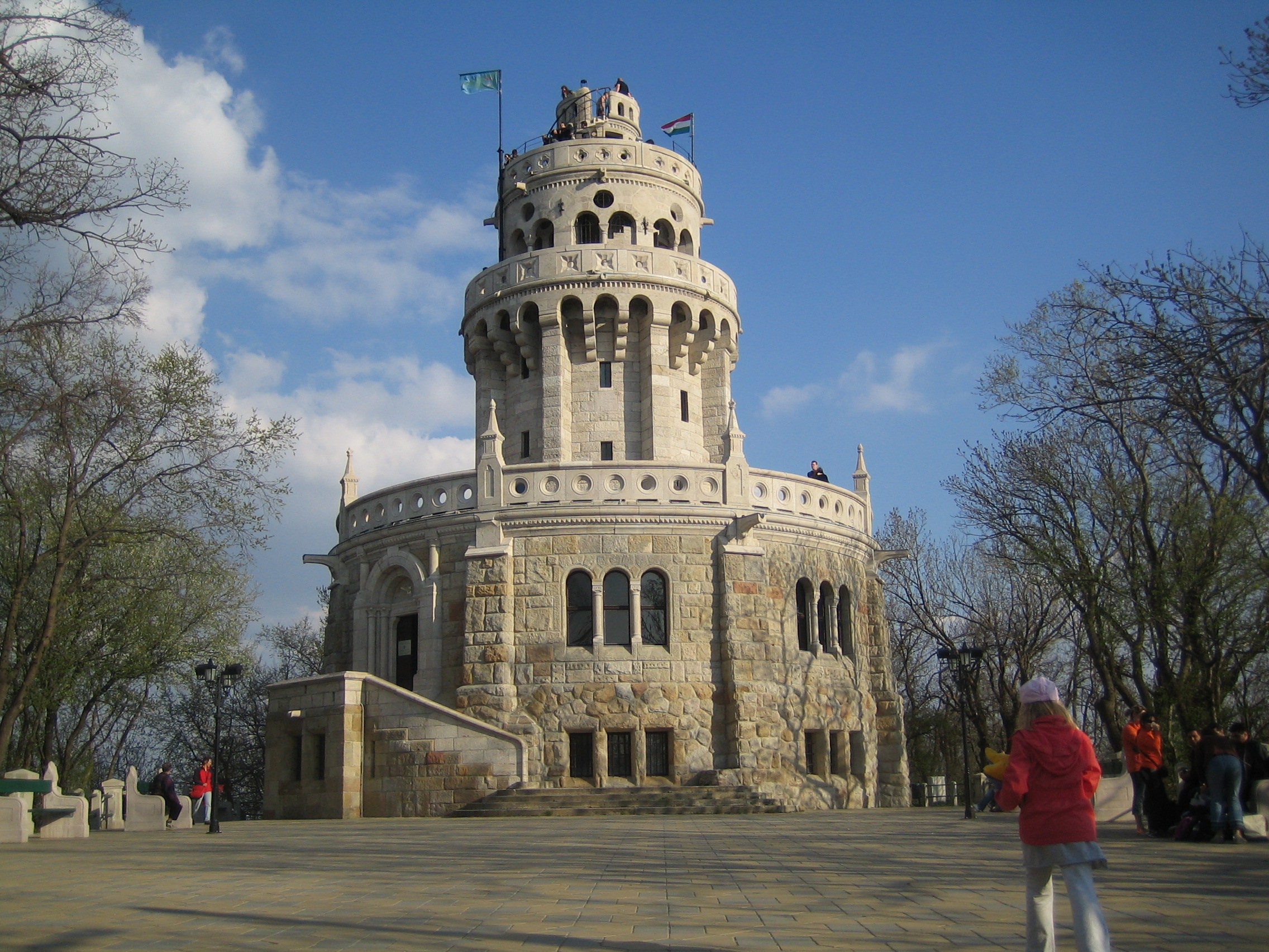 Eizabeth lookout tower in Budapest