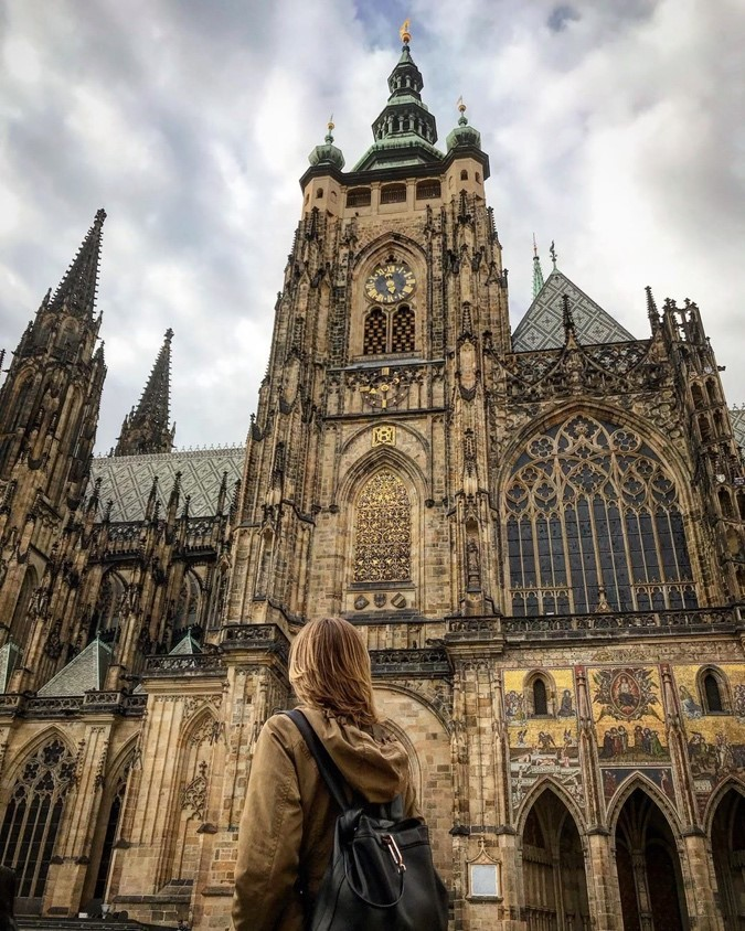 St. Vitus Cathedral in Prague on Instgram