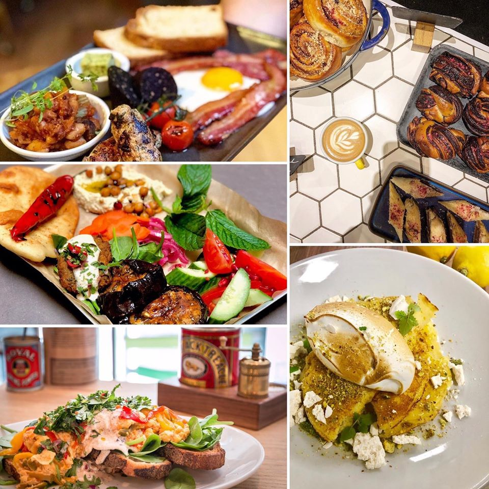 A collage of the breakfast and brunch options in Brother Hubbards in Dublin