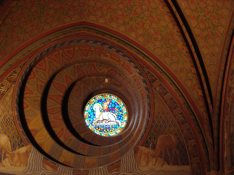 interior in Matthias church in Budapest