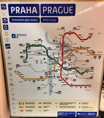 Prague subway map